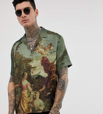 Heart & Dagger revere shirt with ornate painting print