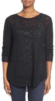 Eileen Fisher Ballet Neck Tunic Sweater (Regular & Petite)