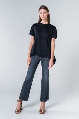Sonia Rykiel Asymmetric Rhinestone T-Shirt