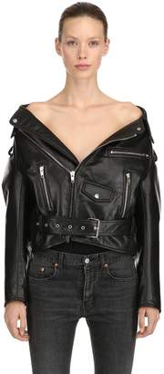 Balenciaga Swing Biker Leather Jacket