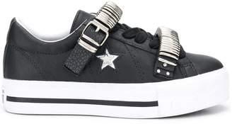 Converse One Star platform sneakers