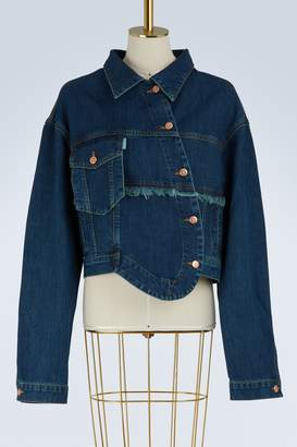 Aalto Denim jacket with fringes
