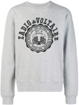 Zadig & Voltaire Zadig&Voltaire logo print sweatshirt