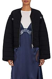 3.1 Phillip Lim Women's Convertible Cotton Terry Bomber Jacket - Black