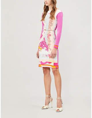 Emilio Pucci Colour-blocked crepe dress