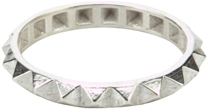Catherine Weitzman Silver pyramid ring