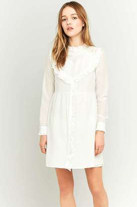 Manoush Sweetheart White Ruffle Dress