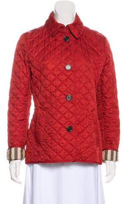 3785dc2c1 Burberry Brit Quilted Check Jacket - ShopStyle