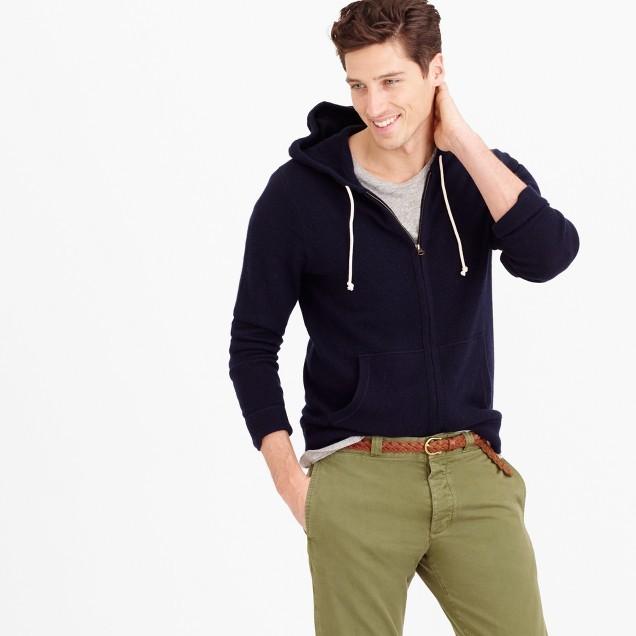 J.Crew Italian cashmere zip hoodie