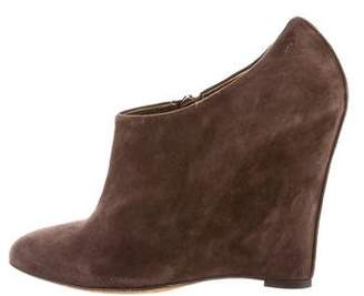Dolce & Gabbana Pointed-Toe Wedge Booties