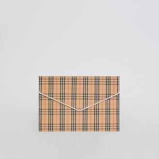 Burberry Large 1983 Check Envelope Pouch, Grey