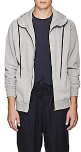 Tomas Maier MEN'S COTTON ZIP-FRONT HOODIE-GRAY SIZE S