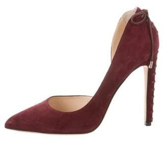 Chloé Gosselin Suede Pointed-Toe Pumps