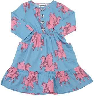 Mini Rodini Pegasus Printed Organic Cotton Dress