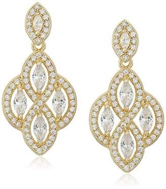 "Anne Klein Precious Pieces"" -Tone and Cubic Zirconia Medium Post Chandelier Drop Earrings"