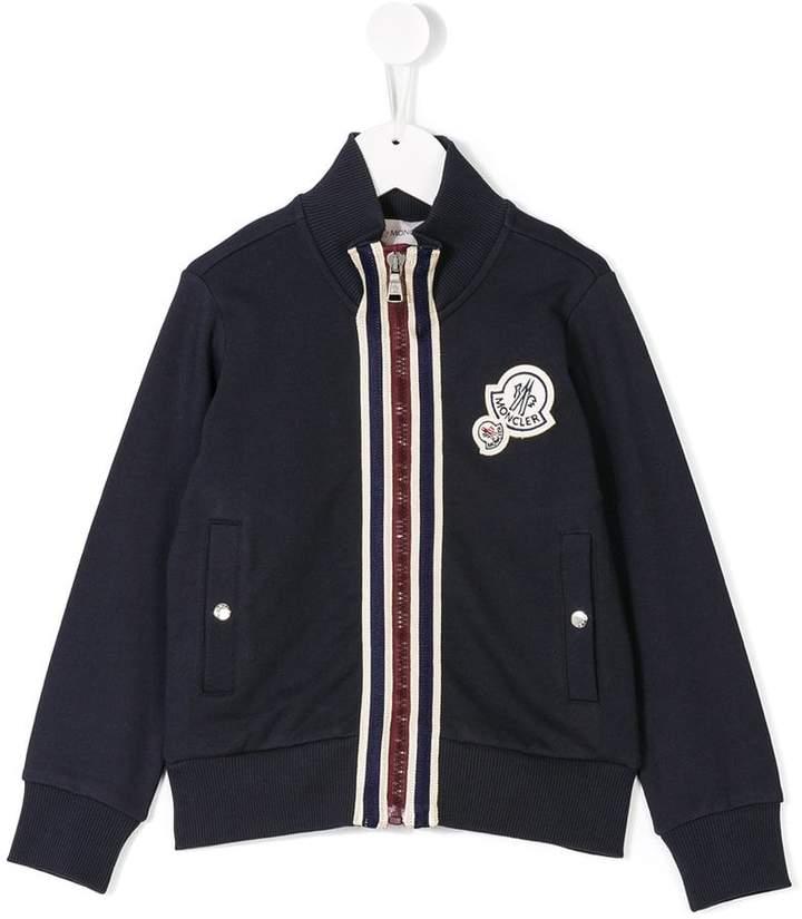 stripe detail bomber jacket