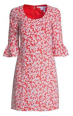 Draper James Women's Floral Bell-Sleeve Shift Dress - Pink - Size 0