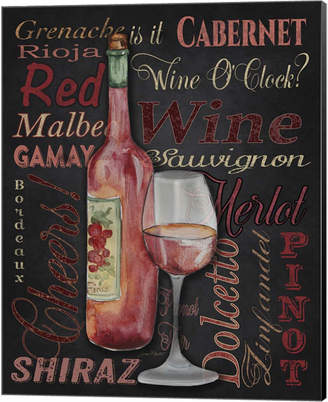 Metaverse Red Wine - Black By Jean Plout Canvas Art