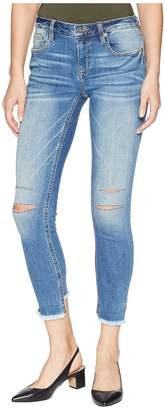 Miss Me Five-Pocket Ankle Skinny Jeans in Medium Blue Women's Jeans