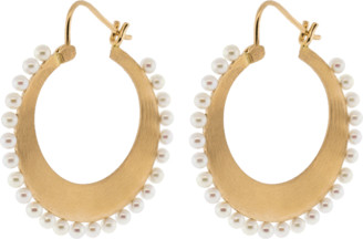 Irene Neuwirth JEWELRY Small Akoya Pearl Hoop Earrings