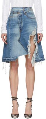 R 13 Blue Denim Norbury Skirt