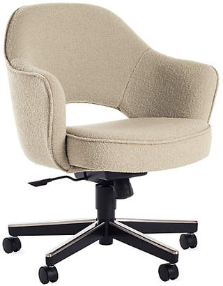 Design Within Reach Knoll Saarinen Executive Armchair with Casters, Cream at DWR