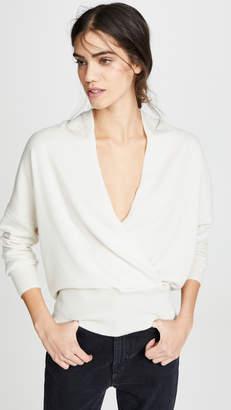 Nili Lotan Cashmere Wrap Sweater