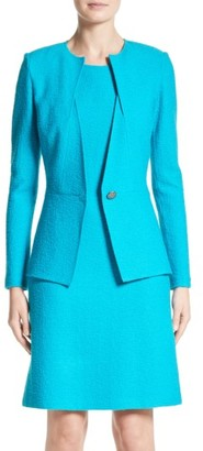 Women's St. John Collection Clair Knit Peplum Blazer $1,495 thestylecure.com