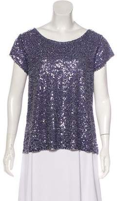 Calypso Short Sleeve Sequin Top