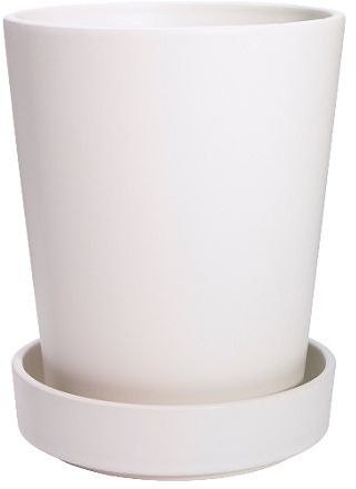 Bladet Plant Pot With Saucer