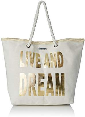 Womens Con01-tz-gold Tote Gold Or (Gold) Les Tropeziennes ngAw2g