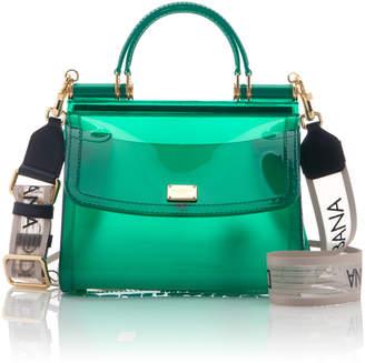 4d739cc3dccb Dolce & Gabbana Sicily Rubber Top Handle Bag