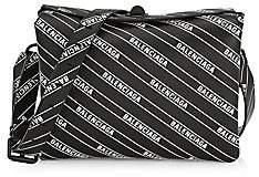 Balenciaga Women's Small Flap Logo Leather Shoulder Bag
