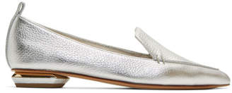 Nicholas Kirkwood Silver Leather Beya Loafers