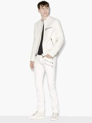 John Varvatos Off-White Moto Jacket