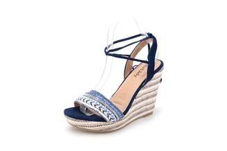 Mila Louise Lady Platform Ankle-Wrap Wedge Sandal (Lisa-6) 6.5