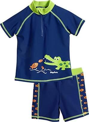 Playshoes Boy's UV Protection Bathing Set Crocodile Swimsuit,(Manufacturer Size: 86/92)