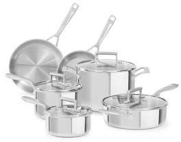 KitchenAid Tri-Ply Copper 10-Piece Set