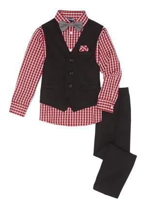 Nautica Check Shirt 4-Piece Suit (Toddler & Little Boys)