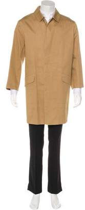 Burberry Coated Nova Check-Lined Car Coat