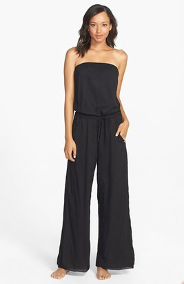 Women's Hard Tail Strapless Jumpsuit $124 thestylecure.com