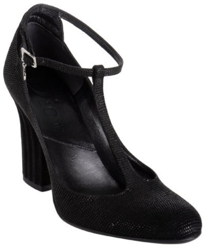Christian Dior black dotted suede 'Dior Graphic' t-strap pumps
