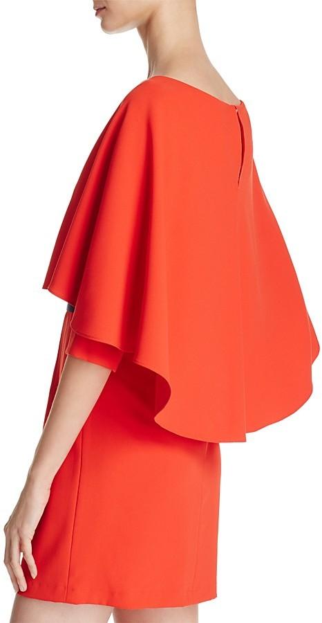 Alice + Olivia Cairo Tiered-Overlay Dress 4
