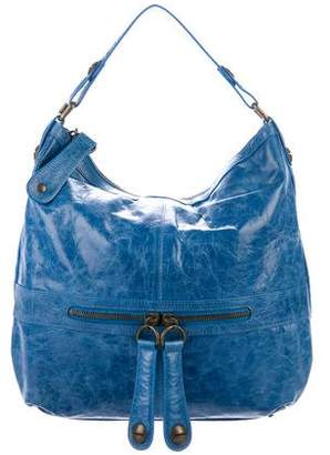 Gerard Darel Leather Zip Hobo Bag