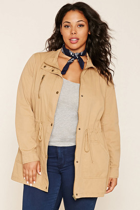 FOREVER 21+ Plus Size Drawstring Jacket $29.90 thestylecure.com