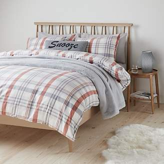 56721664139 John Lewis   Partners Appin Check Brushed Cotton Duvet Cover Set