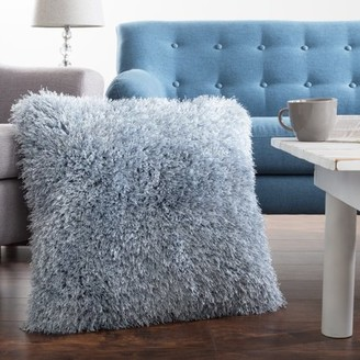 Oversized Floor or Throw Pillow Square Luxury Plush Shag Faux Fur Glam Decor Cushion for Bedroom Living Room or Dorm by Somerset Home (Blue)