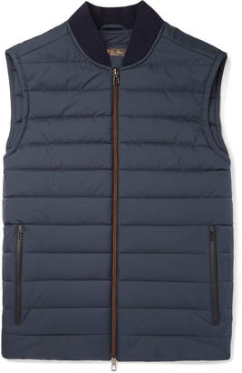 Loro Piana Ontario Slim-Fit Green Storm System Quilted Shell Gilet