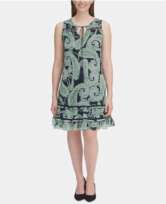 Tommy Hilfiger Paisley-Print Flounce Dress