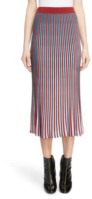 Kenzo Stripe Flare Midi Skirt